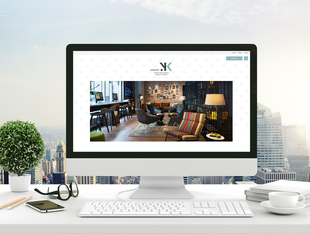 Conception de site internet TRIDAL Communication Groupe YK Web