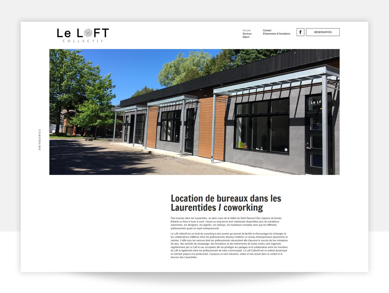 TRIDAL conception Web Le Loft Collectif espace de coworking