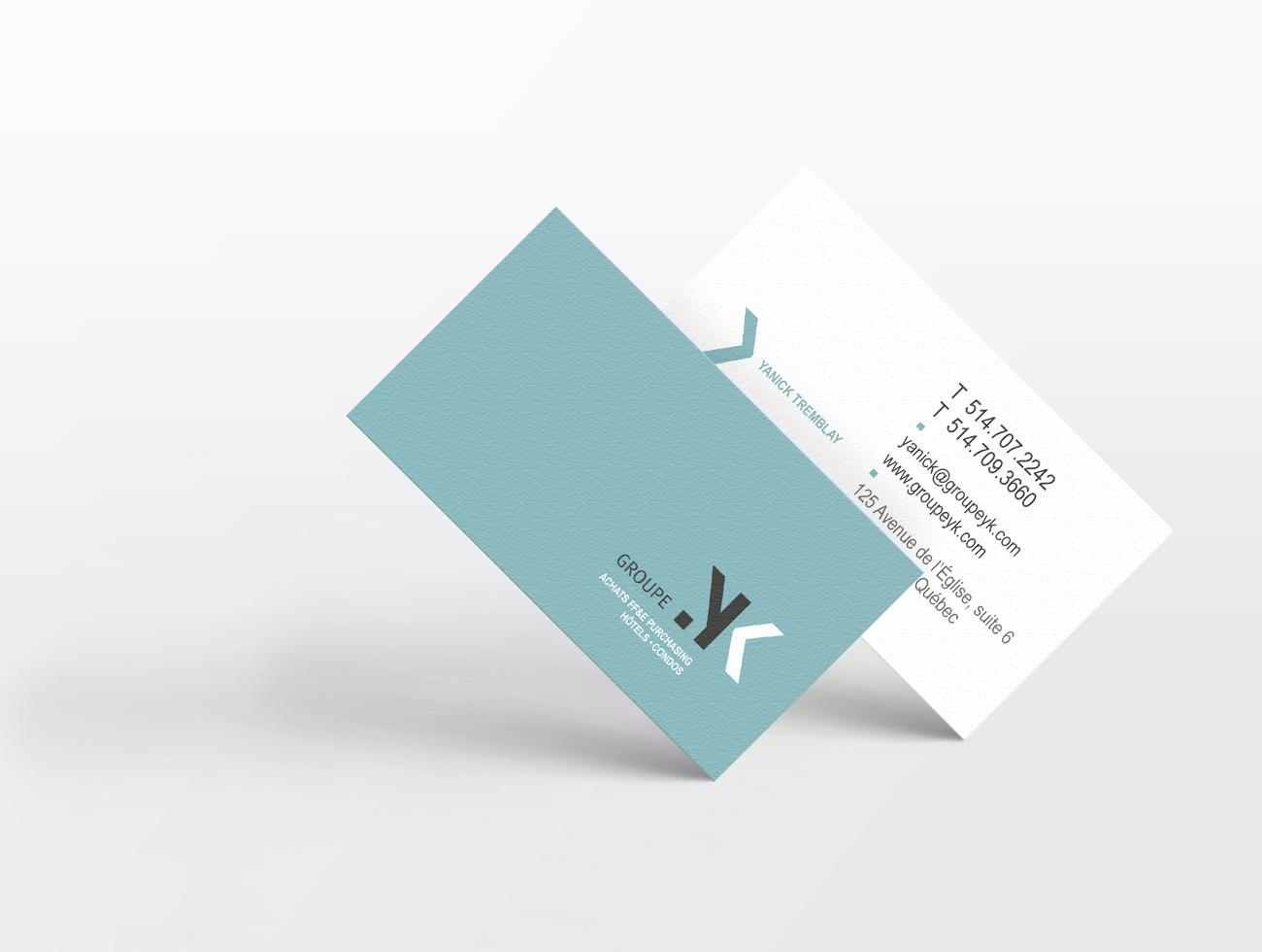 Conception de carte d'affaires TRIDAL Communication Groupe YK