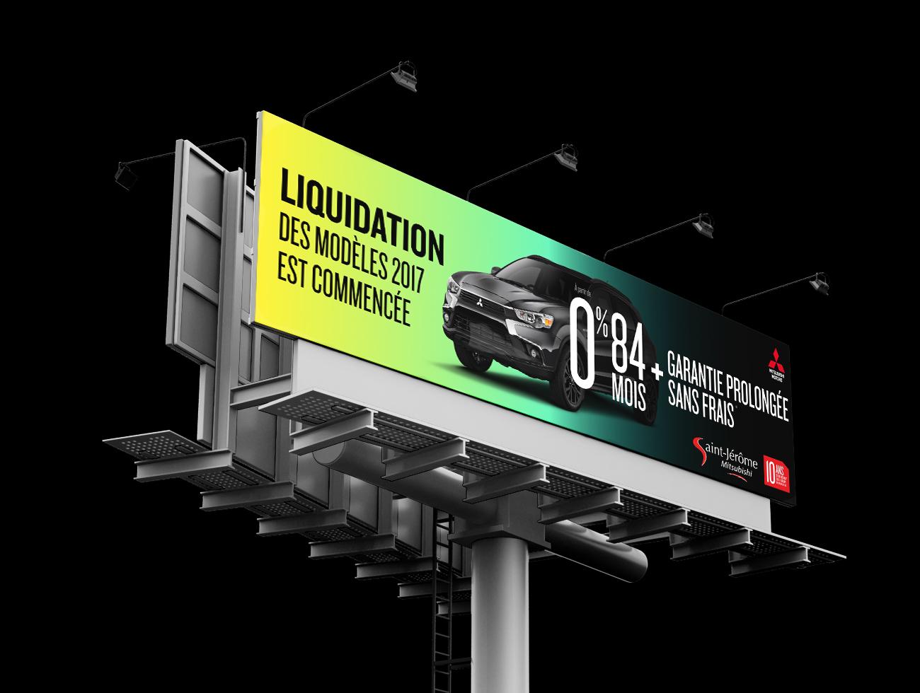 TRIDAL Conception panneau autoroute Mitsubishi